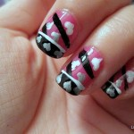 Valentine's Day Nail Tutorial: Hot Pink w/ Black Tips