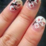 Cherry Blossoms Nail Tutorial