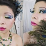 Color Me Peacock Halloween Hair & Makeup Tutorial