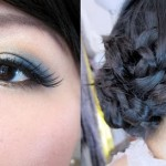 Valentine's Day Neutral Blues Makeup with Knot Updo Tutorial