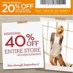 Banana Republic 20% off Coupon for Labor Day!