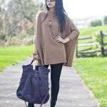 Ready for Fall | Oversized Sweater and Purple Pumps