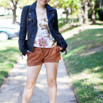 Summer Edge: Leather Moto Jacket & Ainsley Paisley Top
