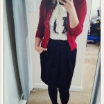 iPhone OOTD: Tiny Hearts, Touch of Lace and Splash of Red