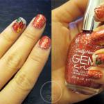 Poinsettia and Sparkles Nail Tutorial using Sally Hansen's Gem Crush