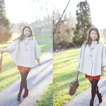 Winter Comforts: Suede Cape & Second Look on Faux Fur Vest