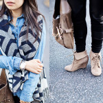 Casual | Chambray & Geo Print Fringe Sweater Vest