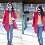 Plucked | DIY Feathered Clutch & Bold Stripes