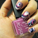 Water Marble Nail Tutorial: Psychadelic