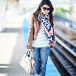 Chicago Lookbook: Nautical Stripes & Polka Dot Mix Print