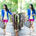 Colorblock Casual | Cobalt, Gingham Yellow and Fuchsia