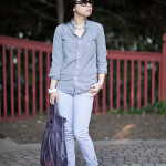 Muted: Shades of Purple and Navy Gingham