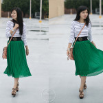 Sunday Fun: Pleats & Stripes