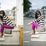 Falling: Bold Stripes & Magenta
