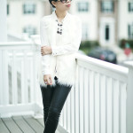 Winter White: Sweater Vest & Pleather Pants