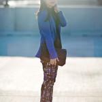 Black & Blue: Lace & Geo Prints