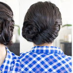 How to: An Asymmetrical Fishtail Braid Updo Tutorial