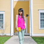 Spring Brights: Layered Collar & Cigarette Pants