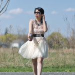 Delicate Neutrals: Rose Lace & Ivory Tulle