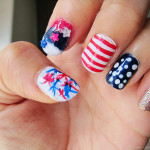 4th of July Nail of the Day: Ombre, Stripes and Starbursts