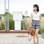 Statement: Studded Knit & Floral Shorts