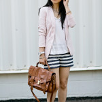 Blushing Summer | Lightweight Blazer & Nautical Shorts