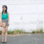 Keeping Cool: Striped Skort & Caged Top