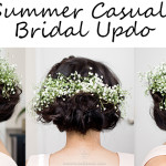 Summer Casual Bridal Updo