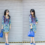Feeling Blue: Print Shift Dress & Man Repeller
