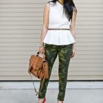 Classy Casual: Mod Top & Camo Skinnies