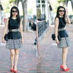 Edgy Chic: Pleather Peplum + Leopard Skirt