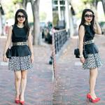Edgy Chic: Pleather Peplum + Leopard Skirt