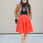 Autumn Chic | Crinkled Skirt + Leopard