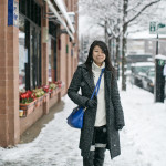 Chicago Winter Blues | Marled Full Length Coat & Sweater Tunic