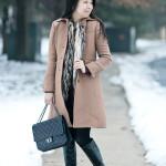 Arctic Layers| Burgundy Dress & Faux Fur Vest