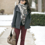 Winter Casual | Burgundy & Navy