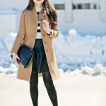Winter Crop | Black & White + Camel