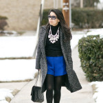 Winter Brights | Cobalt Blue Shorts & Statement Necklace