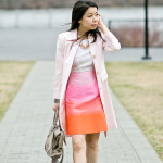 Easter Sunday | Baby Pink Trench + Spring Ombré Shift Dress
