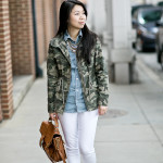 Weekend Casual | Camo + Chambray