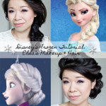 Disney's Frozen | Elsa's Makeup + 2-in1 Hairstyles + Sequin Ombré Dress