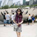 Chicago Bean | Mixing Prints + Color Splash