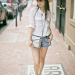 NOLA Airport Style | Easy Breezy Blouse + Cut-off Shorts