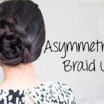 How-to | Asymmetrical Lace Braid Updo