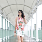 Date Night | Summer Scuba Dress + Foldable Aviators