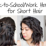 How-to | 4 Easy Back-to-School or Work Hairstyles for Short Hair