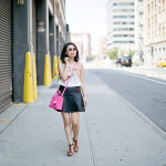 NYFW Double Flair | Crop Top + Pleather Skirt