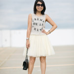 Crème de la Crème | Casual Top + Tulle Skirt