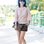 La Vie En Rose | Rosette Top + Pleather Shorts
