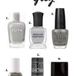 Beauty Talk | Shades of Grey Polishes for Fall